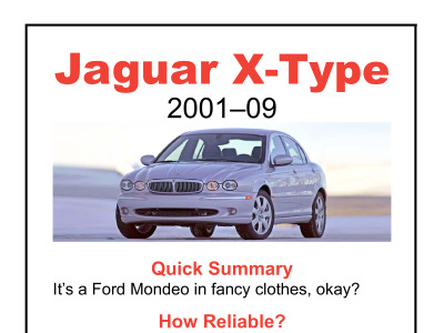jaguar x-type 2001-09 - the dog & lemon guide reviews | carjam