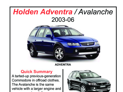holden adventra 2003 06 the dog lemon guide reviews carjam rh carjam co nz Holden Adventra Lifted holden adventra workshop manual